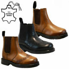 BOYS KIDS INFANTS LEATHER CHELSEA BROGUE DEALER SCHOOL ANKLE BOOTS SHOES SIZE