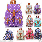 NEW LADIES CANVAS RUCKSACK GIRLS SCHOOL BAG COLLEGE BACKPACK SHOULDER BAG TRAVEL