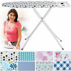 HIGHLANDS DELUXE WIDE METAL IRONING BOARD IRON RACK 10STEP HEIGHT ADJUSTABLE NEW