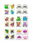 Kids Birthday Party Temporary Tattoos for Loot Bags  Various designs Pack of 24
