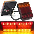 Pair 12v 8 Led Stop Rear Tail Brake Lights Indicator Lamp Trailer Truck Caravan