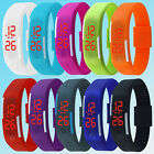 New Men/Women Rubber Red LED Waterproof Watch Sport Bracelet Digital Wristwatch