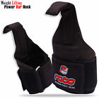 Weight Lifting Gym Power Hook Bar Chin Pull Up Hook Padded Wrist Support Black