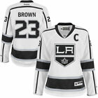 Reebok Dustin Brown Los Angeles Kings Womens White Premier Player Jersey NHL