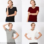 Plus Size Fashion Womens Short Sleeve Casual Loose Ladies T Shirt Tops Blouse