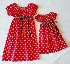 2 SAME DRESS MOTHER+DAUGHTER COTTON Sz 2-12 CHOOSE PRINT HANDMD 60'S INSPD $45