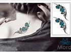 TEMPORARY TATTOO REMOVABLE WATERPROOF DIAMOND ROSE CROWN BUTTERFLY STAR