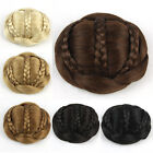 60gr Bride Chignon Hair Bun Clip In Synthetic Braided Piece Ginger Blonde SP189