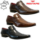 MENS RED TAPE REAL LEATHER CASUAL FORMAL SMART WORK LOAFERS BROGUE SHOES SIZE