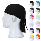 Unique  Fitted Solid Tied BACK BANDANA DOO RAG Do Du Motorcycle Skull Cap Best