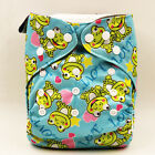 Cute Washable Baby Reusable Pocket Nappy Cloth Diaper Bamboo Charcoal Cover Wrap
