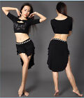 New Soft 2016 Modal Belly Dance Costumes Student  2Pcs Top Skirt w Shorts M L