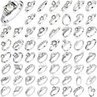 Womens Wedding Jewelry Ladies Silver Plated Gemstone Banquet Wedding Party Rings