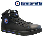 MENS LAMBRETTA LEATHER SAFETY WORK BOOT STEEL TOE CAP SHOES TRAINERS HIKER SIZE