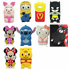 3D Cartoon Soft Silicone Phone Back Case Cover Shell for Samsung Galaxy Phones