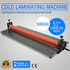 """51"""" 1300MM COLD LAMINATOR LAMINATING MACHINE FOLD-UP 4 ROLLER WIDE FORMAT GREAT"""