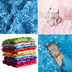 Newborn Baby 3D Photography Props Rug Photo Rose Flower Backdrop Blanket New