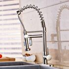 Newly Nickel Brushed Kitchen Sink Faucet Spring Sprayer One Hole Mixer Faucet