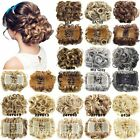 Elastic Net with Combs Wavy Curly Buns Clip In Hair Chignon Synthetic Hairpieces