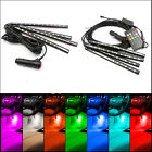 4 x 12 LED Car SUV Interior RGB Atmosphere Decorative SMD Light Neon Lamp Strips