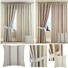 Darwin LINED Pencil Pleat Curtains CLEARANCE EX Catalogue Stock - GREAT PRICE