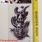 Large Tattoo Demon Lord Skull Devil Wind Ghost Waterproof Sticker 58