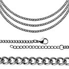Necklace Curb Chain Link Ø 3mm Fine Men Women Steel Small Jewelery up to 70cm