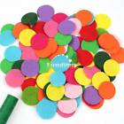 100pcs 30mm Round Felt Pads Apparel Sewing & Fabric Patches Flower Brooch Decor