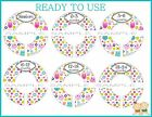 PRE-ASSEMBLED Custom Closet Dividers owls and butterflys Baby Closet Dividers