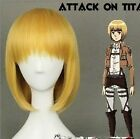 Attack on Titan Armin Arlart Short BoB Golden Blonde Cosplay Straight Anime Wig