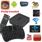 MXQ Android Quad Core Smart TV Box XBMC 1080P WiFi KODI Fully Loaded + Keyboard