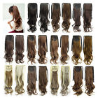 22'' Long Wave Curly Synthetic Hair Ponytail Ribbon Pony Tail Hair Extensions
