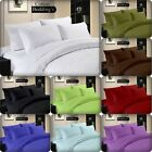 1000 TC 100% Egyptian Cotton Fitted, Flat, Sheet Duvet Set UK Hotel Solid Color