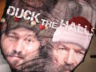 """Duck Dynasty-Throw with """"The 4"""" in Christmas Hats and """"Duck the Halls""""-Brand New"""