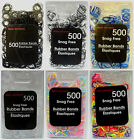 New  500 Poly Snag Free Braiding Elastics Small Rubber Hair Bands  You Choose