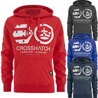 Crosshatch Logo Puff Print Pull Over Hoodie  Mens Size