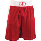 Blitz Boxing Shorts Red - Traditional Elasticated Fight Trunks MMA Muay Thai