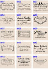 Custom name Self Inking wedding save the date address Personalized rubber stamp