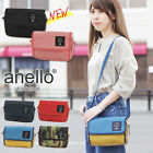 ANELLO New 2-Way Mini Shoulder Pouch Travel Wallet Bag with /Strap Multicolor
