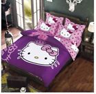 Hello Kitty girls bedding set duvet cover bed sheet pillow cases Free shipping!