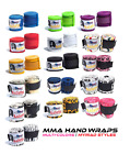 """GLADIATOR MMA 180"""" HANDWRAPS COLORS - Elastic Mexican Pro Boxing Adult Quality"""