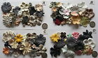 SCRAPBOOKING NO 269 - 18 PAPER PRIMA FLOWERS - 4 PACKS EARTHY SHADES AVAILABLE