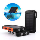 Waterproof 50000mah Power Bank 2USB Battery Manageable Charger For Mobile Phone
