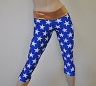 Wonder Woman Superhero Capri Pants Low Rise Yoga Workout SXYFITNESS XXS-XXL USA