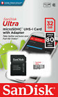 8GB 16GB 32GB 64GB SanDisk ULTRA CLASS 10 micro SD SDHC Flash Memory Card lot