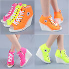Wedges Trainers Heels Sneakers Platform High Top Ankles Shoes Light 777 ToeOpen