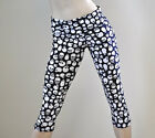 Skull Pant Black White Fold Over/High Waist Capri Yoga Gym SXYfitness USA