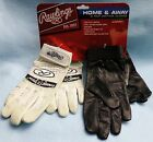 (2 Pairs) BRAND NEW Rawlings Home & Away White/Black Youth Batting Gloves