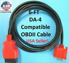 6F OBDII OBD2 Cable Compatible with DA-4 for Snap On Scanner ETHOS+ PLUS EESC319