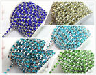 1 Yard 5mm SS24 5 Colors Crystal Rhinestone Silver Chain Sew On Trims Applique